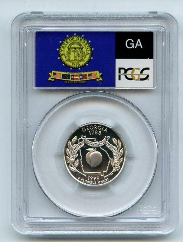 1999 S 25C Silver Georgia Quarter PCGS PR70DCAM