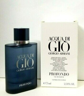 ACQUA DI GIO PROFONDO eau de parfum 2.5 oz NEW IN TESTR BOX 2020 RELEASED