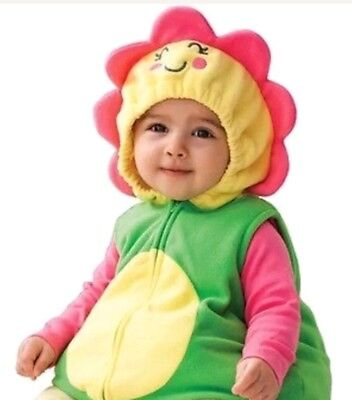 EUC Baby/Infant Carter's 3-6 Months Flower Blossom Halloween Costume Soft Green