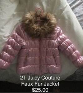 2T Juicy Couture pink Winter Jacket
