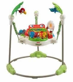Fisher-Price Rainforest Jumperoo Baby Jumper Bouncer Seat