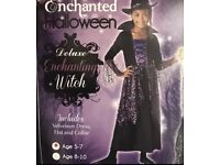 Halloween witch costume 5-7 new
