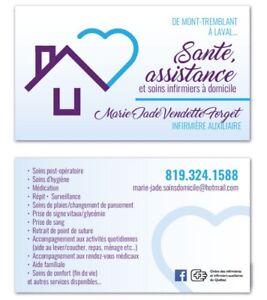 Aide, Assistance & Soins infirmiers à domicile