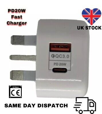 3.0 USB-C Fast Charging PD Charger Cable Plug - iPhone 12 PRO...