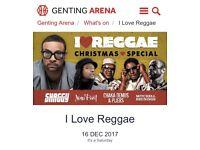 I love reggae concert Dec 16th Birmingham great seats!