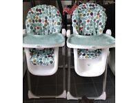 Mamas and papas pesto highchairs