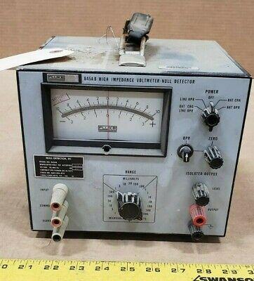 Vintage Fluke 845ab High Impedance Voltmeter Null Detector 6625-00-226-3718
