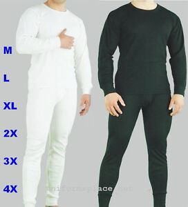 Mens-Thermal-Set-UNDERWEAR-Long-John-2pc-SET-Pant-shirt-set-M-6X-Slim-Fit