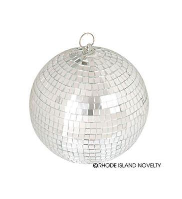 Mirror Ball Disco Ball Party Decoration Retro Silver Mirrored Glass Lighting 8in (Mirror Ball Light)