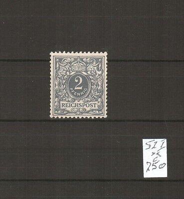 H18804 Deutsches Reich Mi. Nr. 52 PF I  Postfrisch
