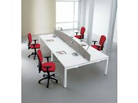 56 - POSITIONS OF BRAND NEW CALL CENTRE BENCH DESKING - 10 YEAR GUARANTEE