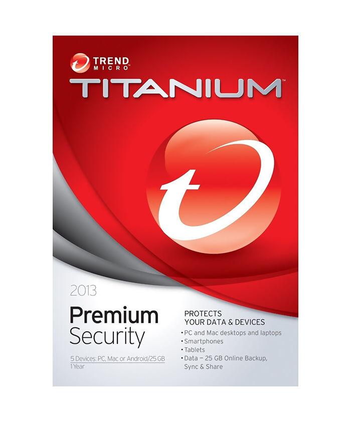 Trend Micro Titanium Maximum Security Premium 2013