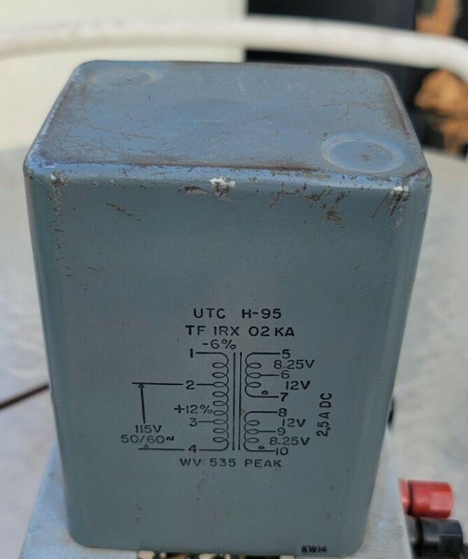 UTC H-95 Silicon Rectifier Transformer 115V 50/60CPS