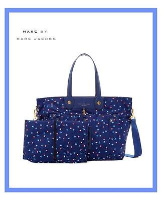 MARC BY MARC JACOBS ELIZA BABY DIAPER BAG W/PAD BLUE DEPTHS M0005547 NWT