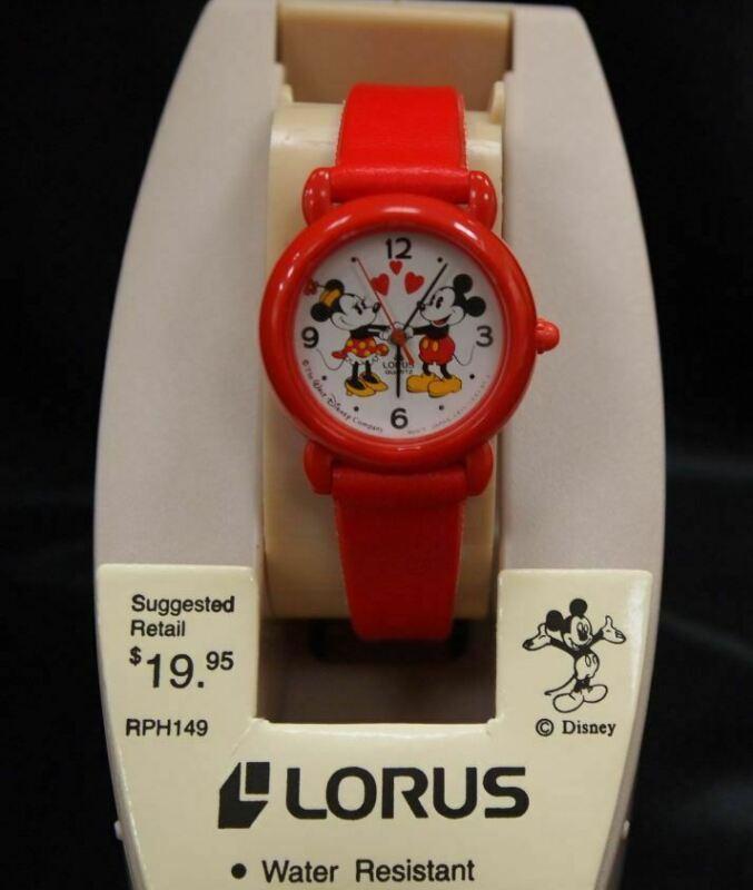 NOS NEW LORUS DISNEY Mickey Mouse Minnie Watch Wristwatch Japan movement
