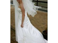 Wedding dress. Corset style so fit size 10 - 14