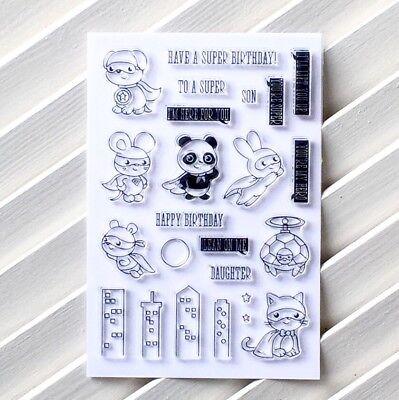 stamps DIY Scrapbooking Stempelset Comic's Superheld *216* (Diy Superhelden)