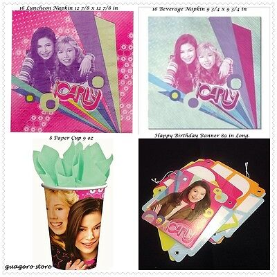 Nickelodeon iCarly Birthday Party Supplies NAPKIN, CUP, BANNER - Nickelodeon Party Supplies