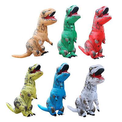 ADULT T-REX INFLATABLE Costume Jurassic World Park Blowup Dinosaur Halloween Cos - Blow Up Dinosaur Costume