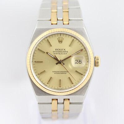 Rolex OysterQuartz DateJust 17013 36mm Steel & Gold 1987