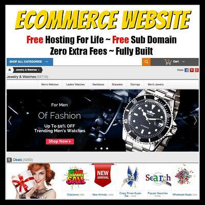 Ecommerce Website - Online Business - Make Money Online - Fully Built Website