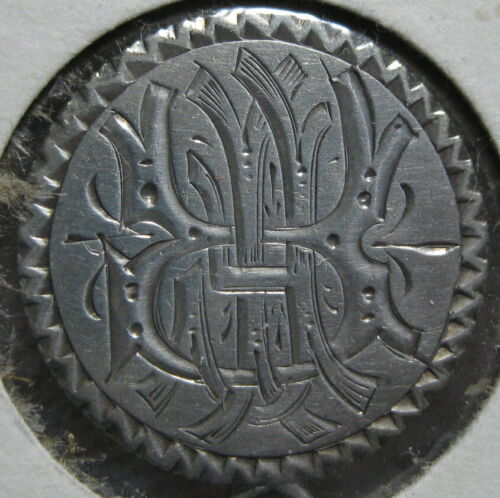1883 Love Token Engraved RFI on a Seated Liberty Dime