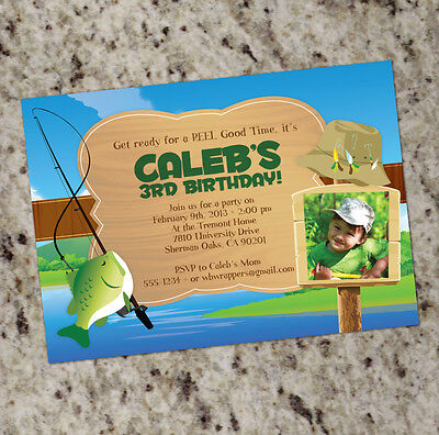 Reel Good Time - Fishing Themed Party Invitations  - FREE SHIPPING! (Fishing Themed Party)