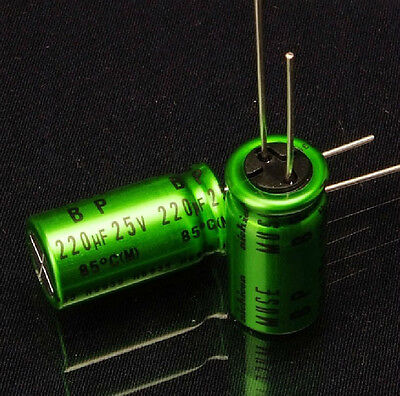 10pcs Japan Nichicon 220uf25v High-end Muse Es Bp Audio Electrolytic Capacitor