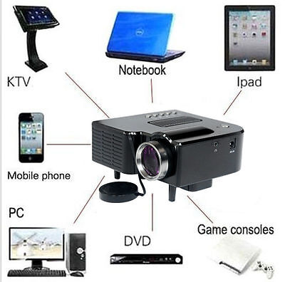 1080P Mini HD LED Projector Home Cinema Theater Multimedia PC USB TV AV HDMI