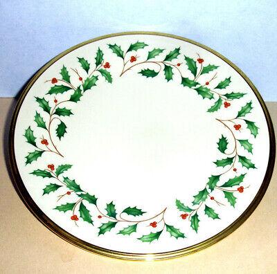 - Lenox Holiday Salad Dessert Plate Gold Banded Ivory China 8