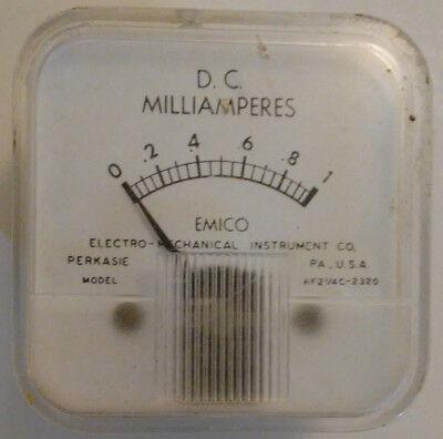 1 Ma Vintage Analog Panel Meter Emico Rf2-14c-2320 2.33x2.33 1 Milliamp