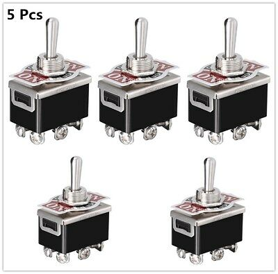 5x Heavy Duty 15a 250v Dpdt 6 Pin On-off-on 3 Position Toggle Switch