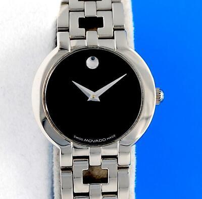 Ladies Movado Estimo SS watch - Black Dial