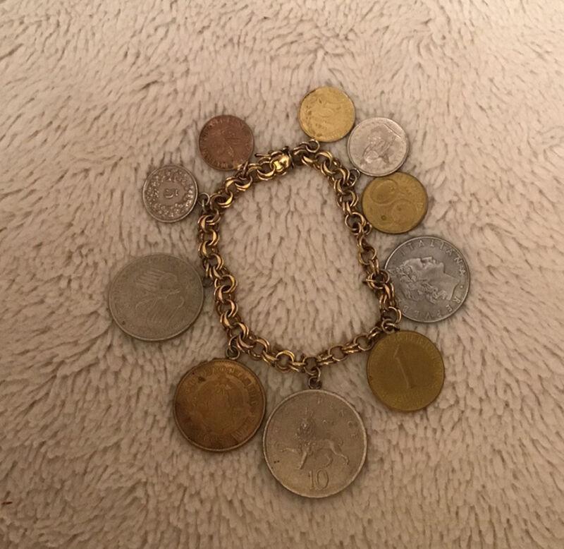 ELCO Color Gold Bracelet V20-12KGE 10 Travel Coins