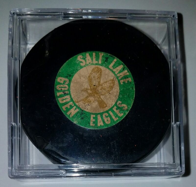 Vintage 1968-74 SALT LAKE GOLDEN EAGLES Art Ross Converse WHL Hockey Game Puck