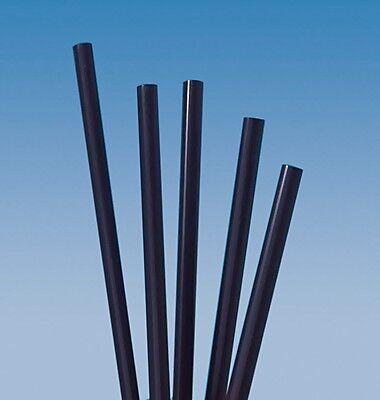 240 Cocktail-Caipirinha Trinkhalme schwarz Länge 14,5cm
