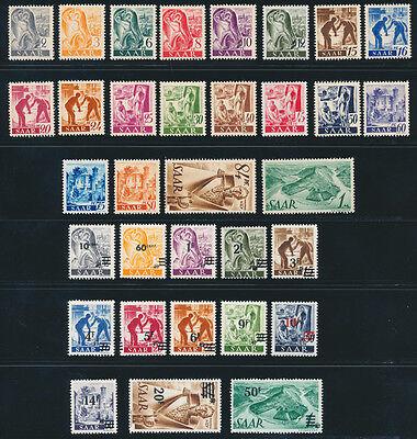 SAARLAND 1947, MiNr. 206-238, 206-38, tadellos postfrisch