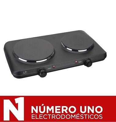 Cocina eléctrica portátil Jata CE220, negro, 2 placas caloríficas, 2500 W
