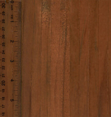 Dollhouse Miniature 1:12 Dark Real Wood Flooring Sheet Self Stick ()