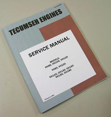 Massey Ferguson 12 Lawn Mower Tractor Tecumseh Hh120 Engine Service Manual