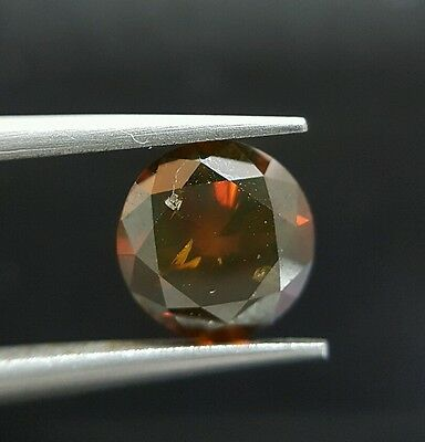 1.31 Carat Round Red Natural Diamond Rare Best Price On Ebay Loose For Ring