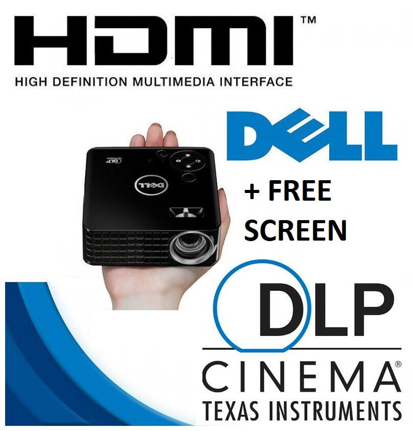 Dell m115hd WXGA WiFi HDMI LCD DLP Home Cinema Projector VGC + Free Screen  | in Wath-upon-Dearne, South Yorkshire | Gumtree