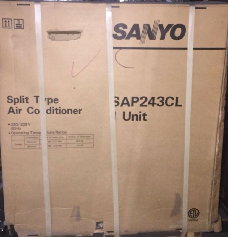 Sanyo Sap243c+sap243t2 Ton R22 Ductless Split Type A/c System 208/230-1
