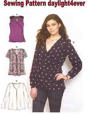 Women Blouse Top Pullover Sewing Pattern 7193 McCall's New Size 6-14 #r