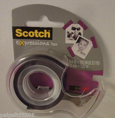 3m Scotch Expressions Tape Pick Your Color Green Pink Or Purple