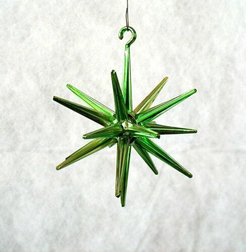 VINTAGE BRADFORD GREEN SPUTNIK MCM STAR PLASTIC ATOMIC AGE CHRISTMAS ORNAMENT