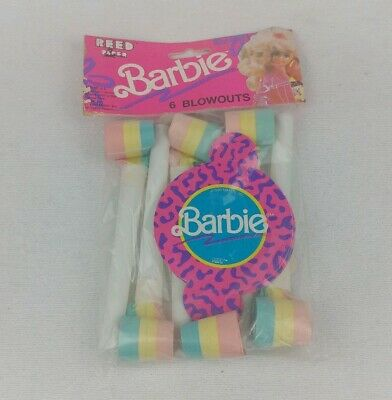 Mattel Barbie Vintage 1990 2 Packs Blowouts Party Supplies Reed By Paper Art NEW ()