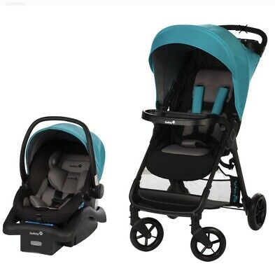 Safety 1st Smooth Ride Travel System Infant Car Seat/Stroller Lake-FREE SHIPPING