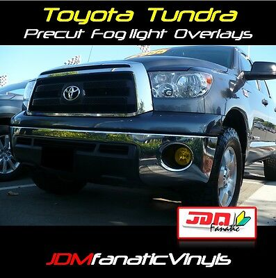 07-11 Tundra Trd Fog Light Jdm Yellow Overlay Tint Film