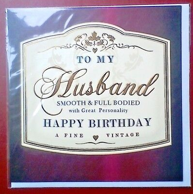 Birthday Card - A Fine Vintage Husband: Brand New With Envelope